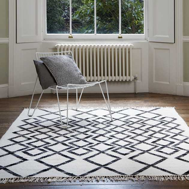 Hackney Diamond Rugs in Mono